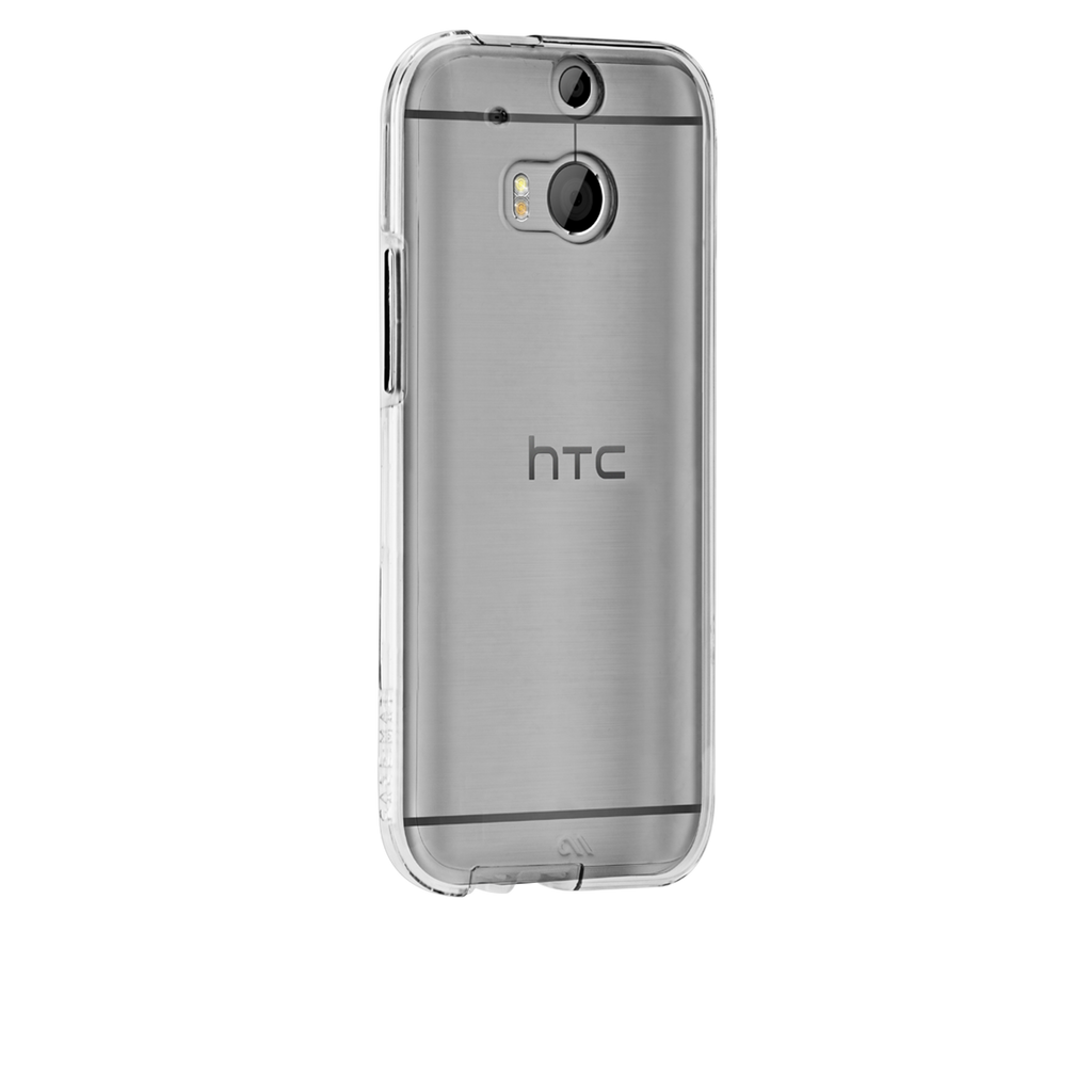 HTC One (M8) Clear & Clear Bumper Naked Tough Case - image angle 1