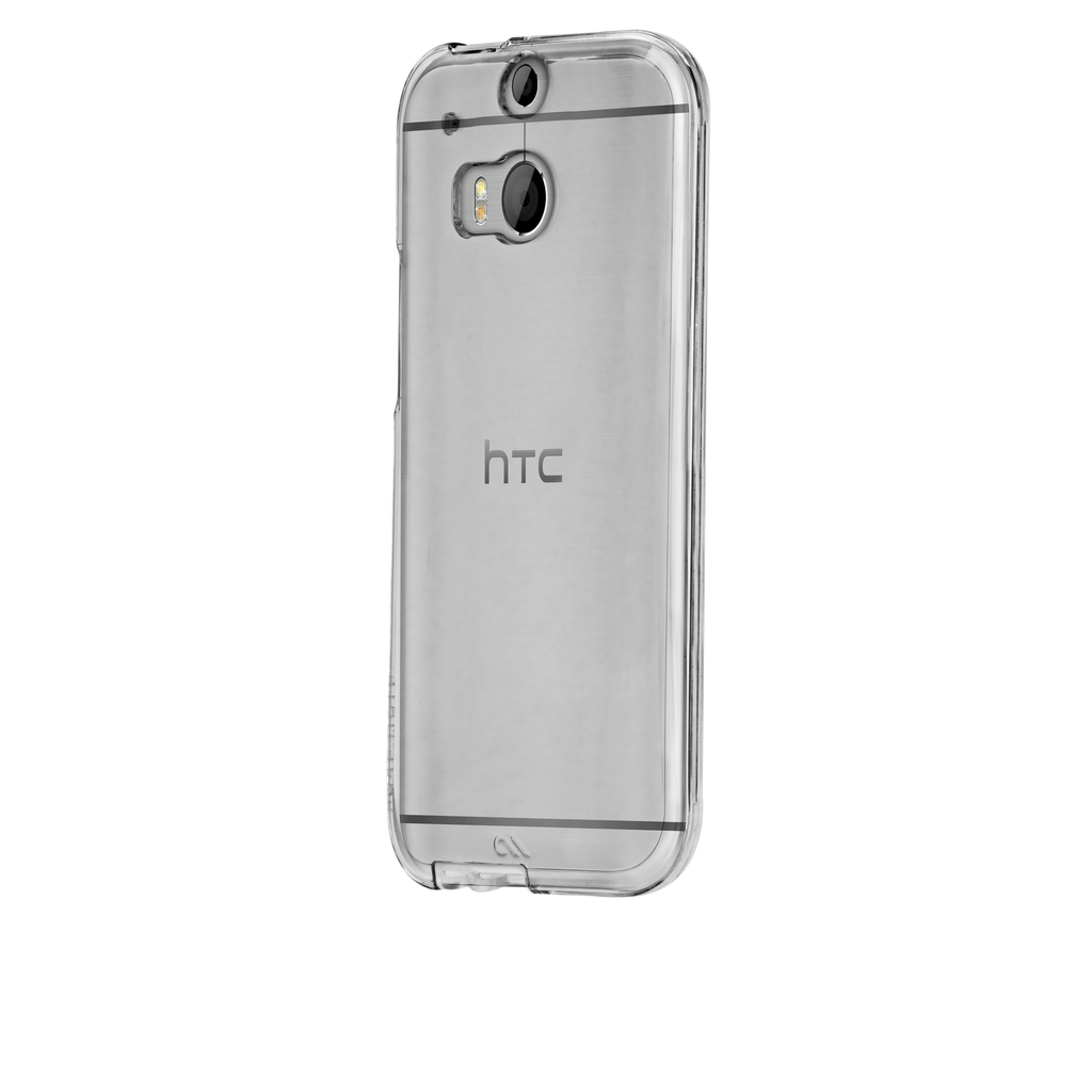 HTC One (M8) Clear Bumper Naked Tough Case - image angle 3