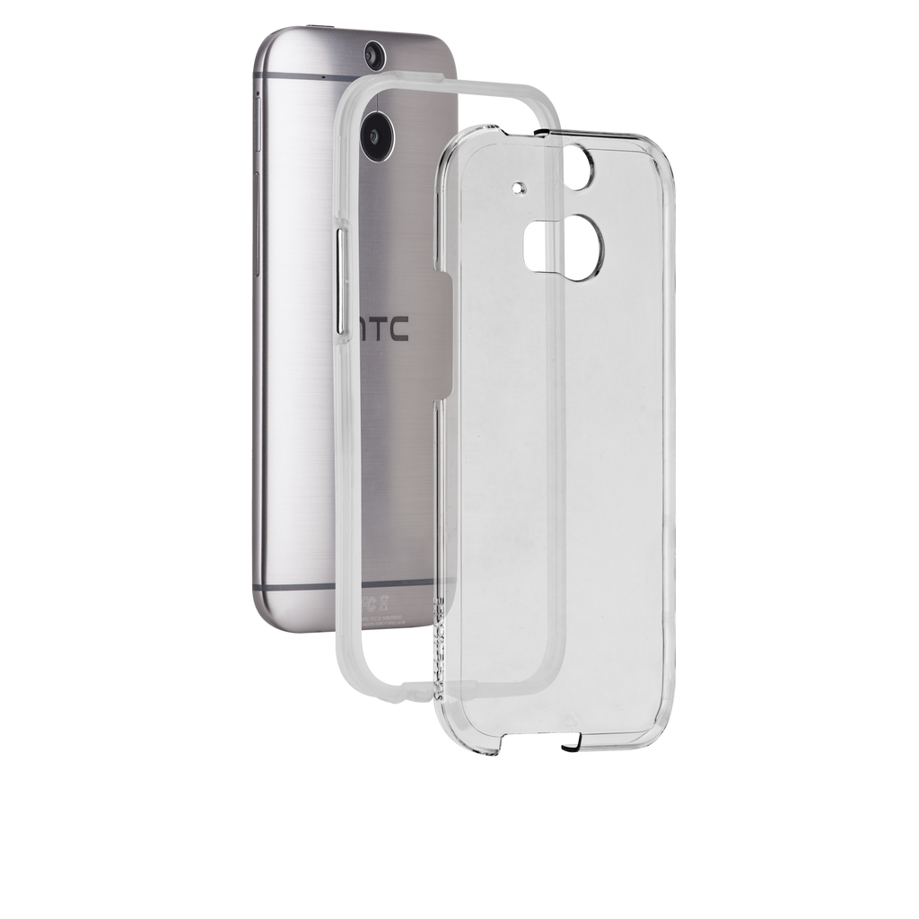 HTC One (M8) Clear Bumper Naked Tough Case - image angle 8