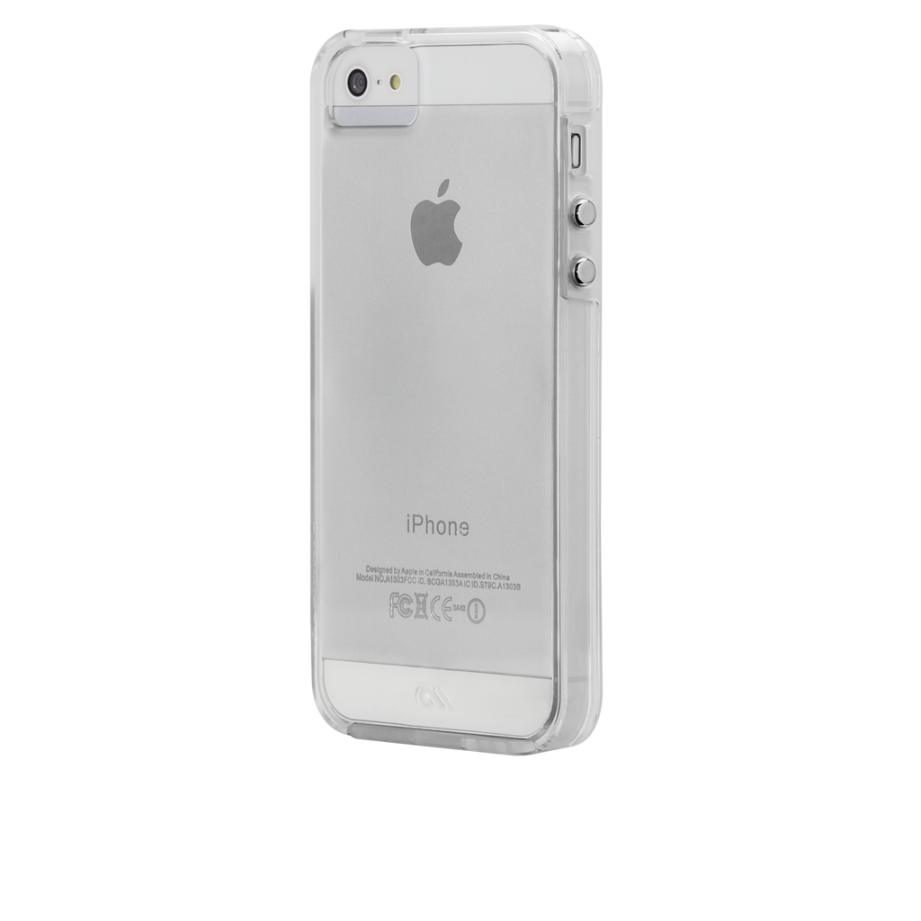 iPhone SE Clear Naked Tough Case - image angle 3