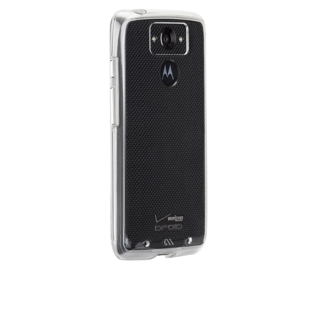 Motorola Droid Turbo Clear & Clear Naked Tough Case - image angle 1