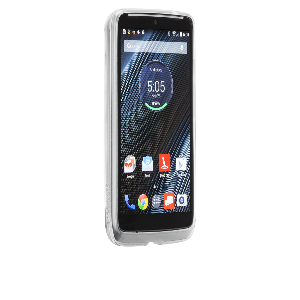 Motorola Droid Turbo Clear & Clear Naked Tough Case - image angle 2