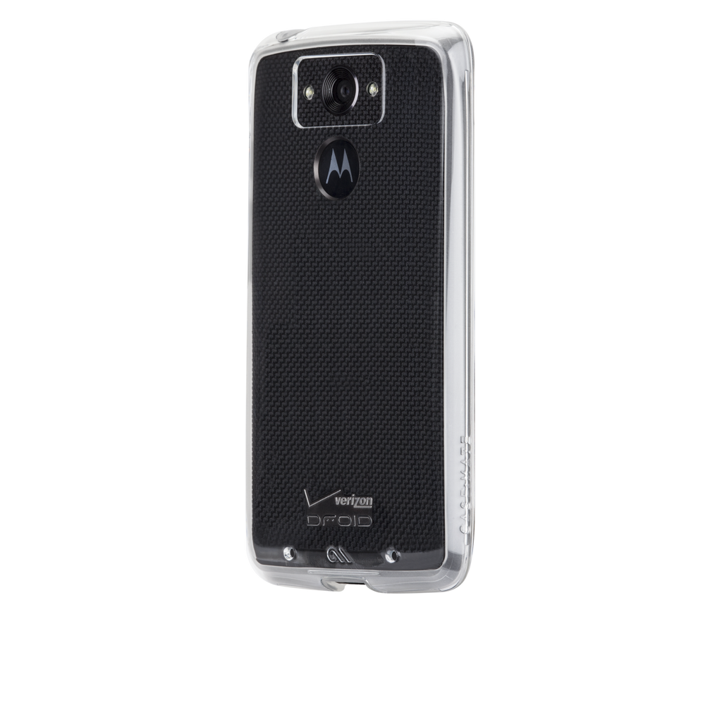 Motorola Droid Turbo Clear & Clear Naked Tough Case - image angle 3