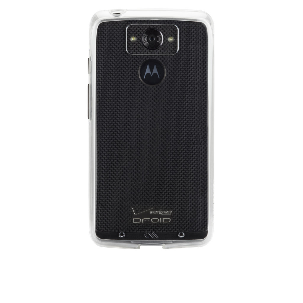 Motorola Droid Turbo Clear & Clear Naked Tough Case - image angle 7