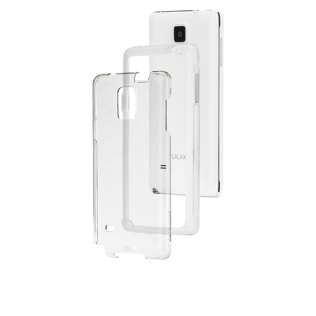 Samsung GALAXY Note 4 Clear Naked Tough Case - image angle 8