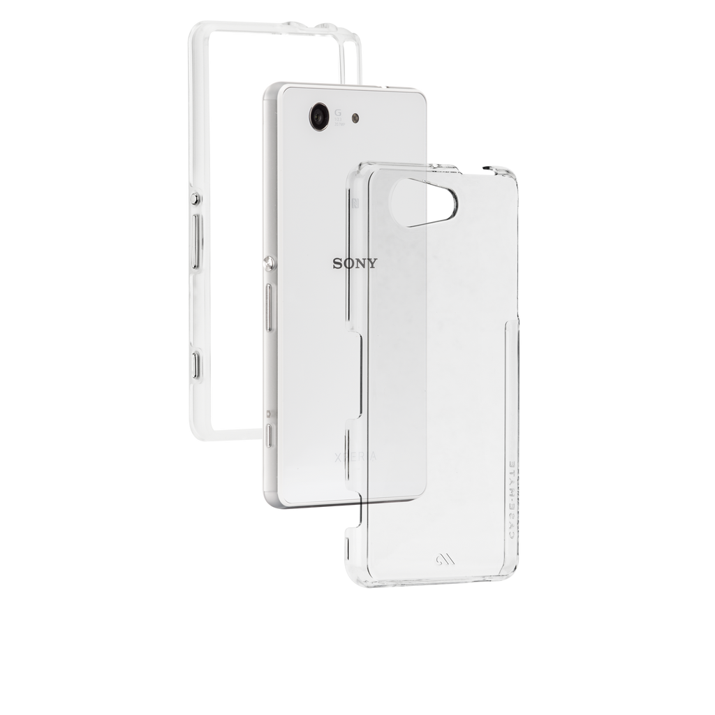 Sony Xperia Z3 Compact Clear Naked Tough Case - image angle 8
