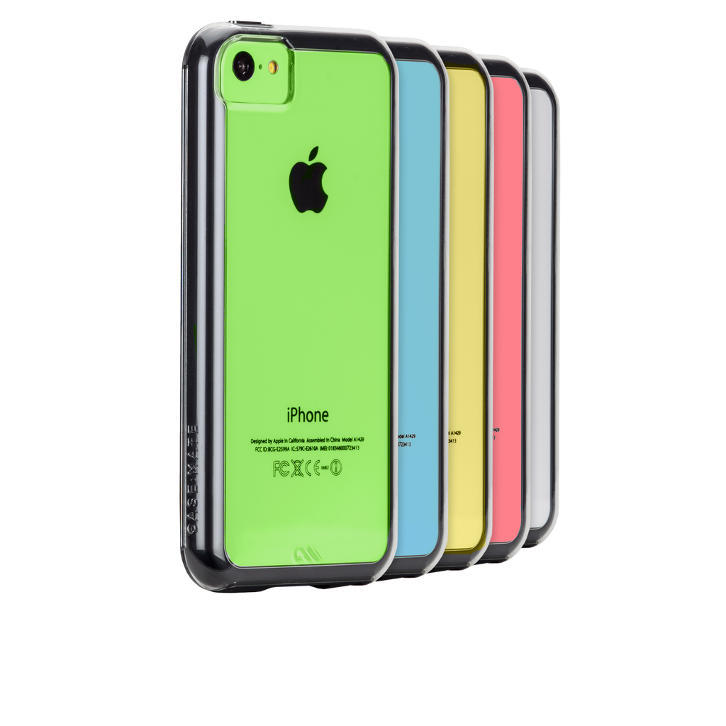 iPhone 5c Clear w/ Black Bumper Naked Tough Case - image angle Hero