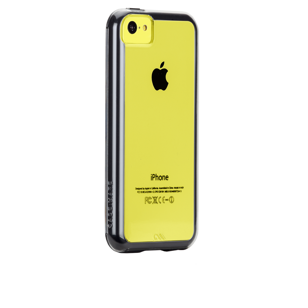iPhone 5c Clear w/ Black Bumper Naked Tough Case - image angle 1