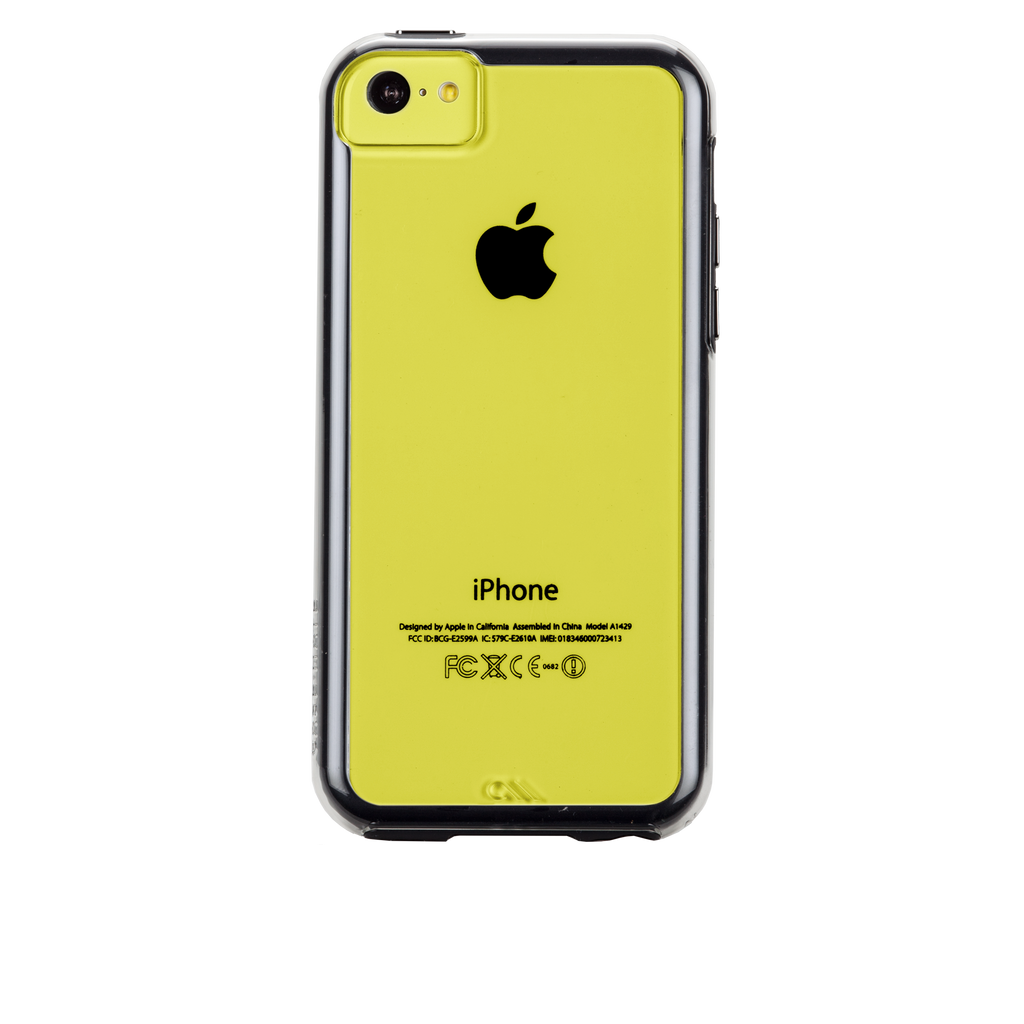 iPhone 5c Clear w/ Black Bumper Naked Tough Case - image angle 7