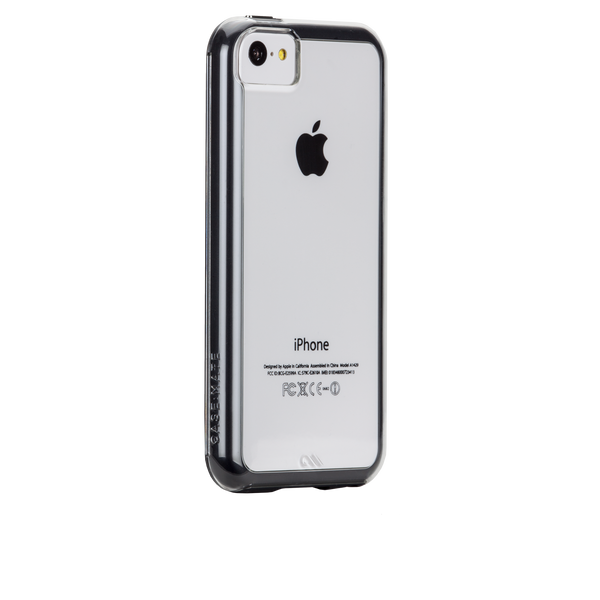Clear w/ Black Bumper Naked Tough Case for iPhone 5c