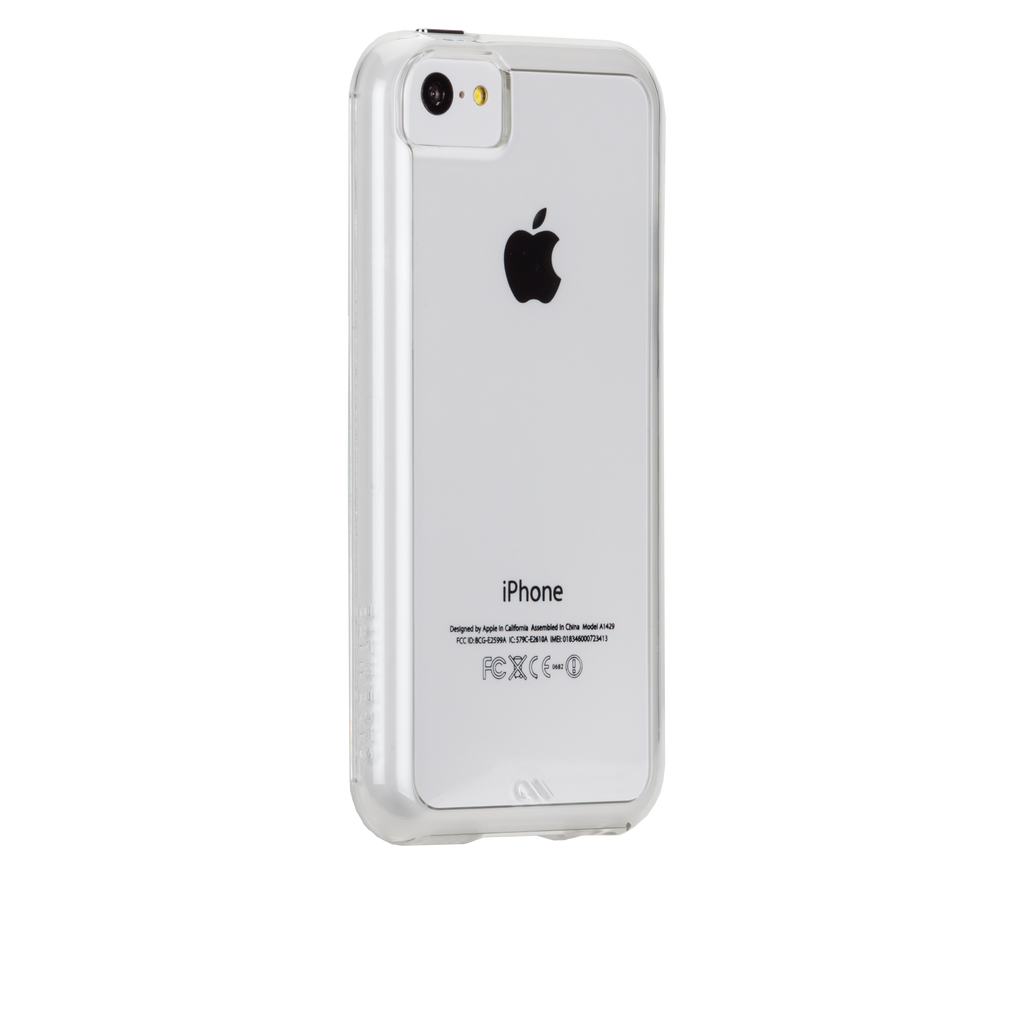 iPhone 5c Clear & Clear Bumper Naked Tough Case - image angle 1