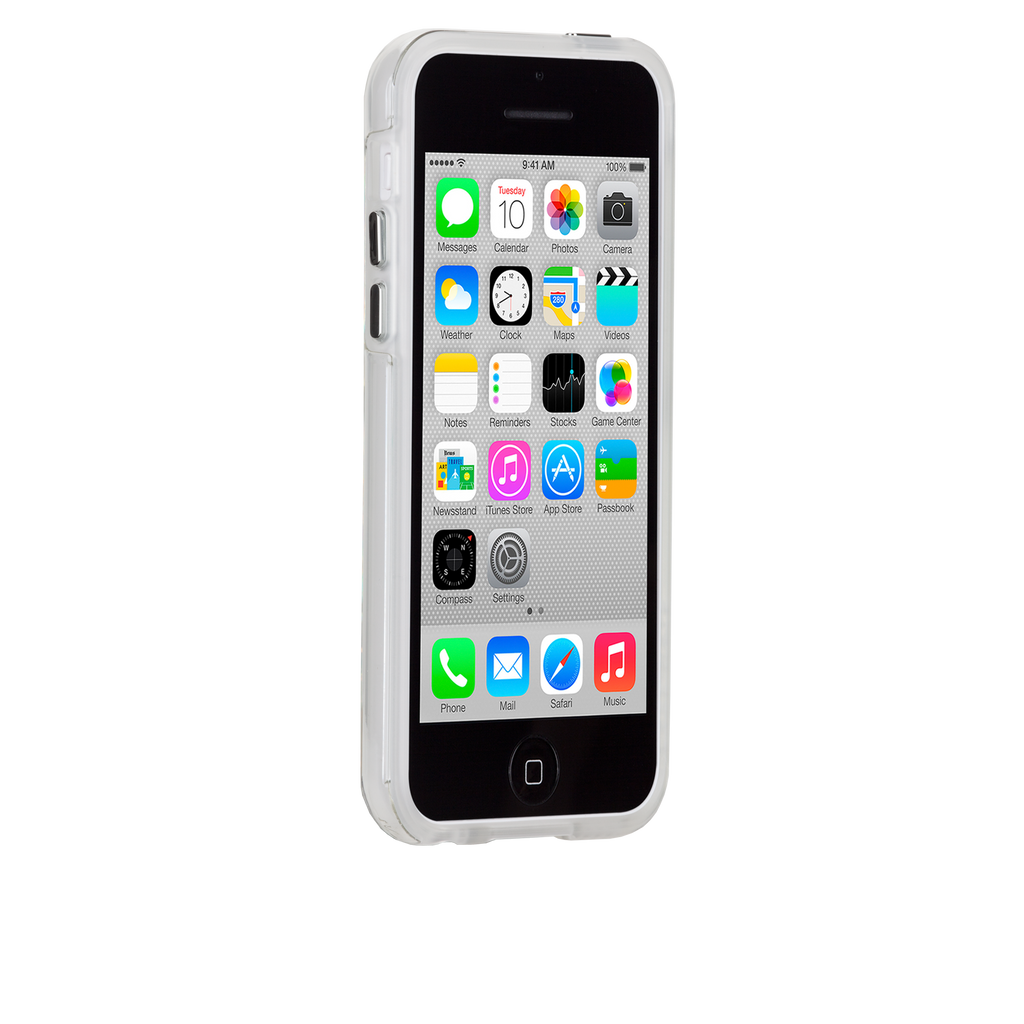 iPhone 5c Clear Bumper Naked Tough Case - image angle 2