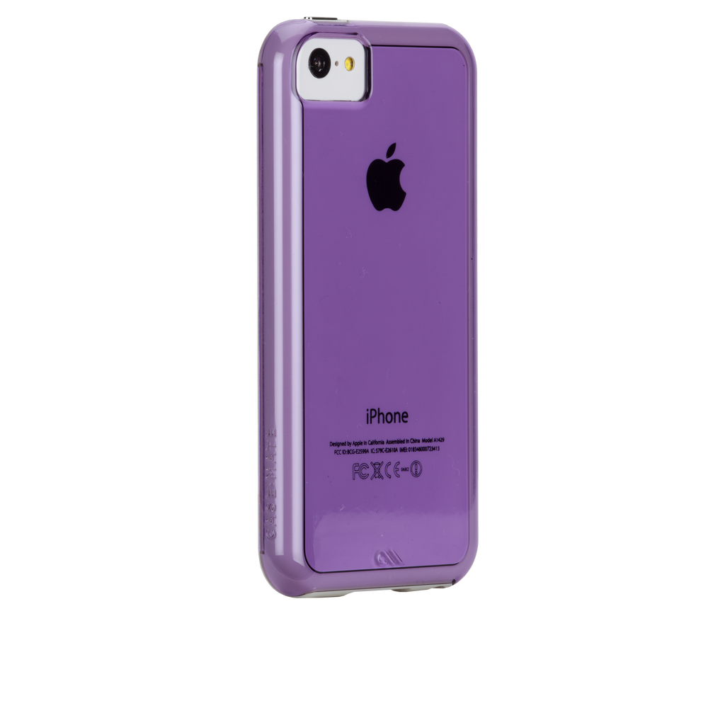 iPhone 5c Purple w/ White Bumper Naked Tough Case - image angle 1