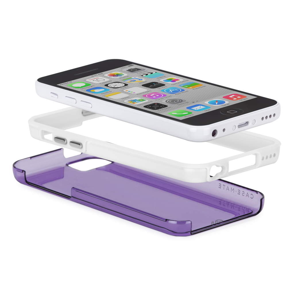 iPhone 5c Purple w/ White Bumper Naked Tough Case - image angle 8