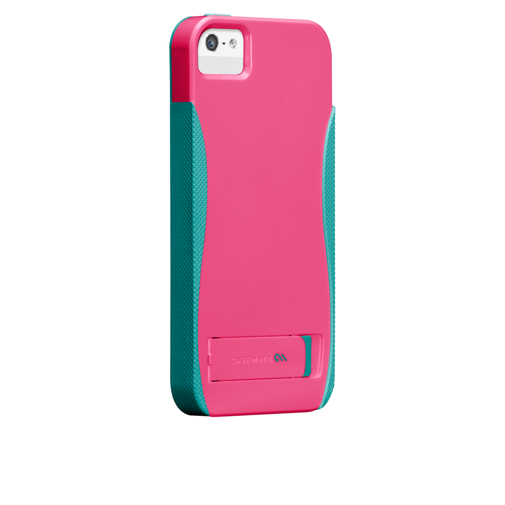 iPhone 5/5s Lipstick Pink & Pool Blue Pop! Case - image angle 1