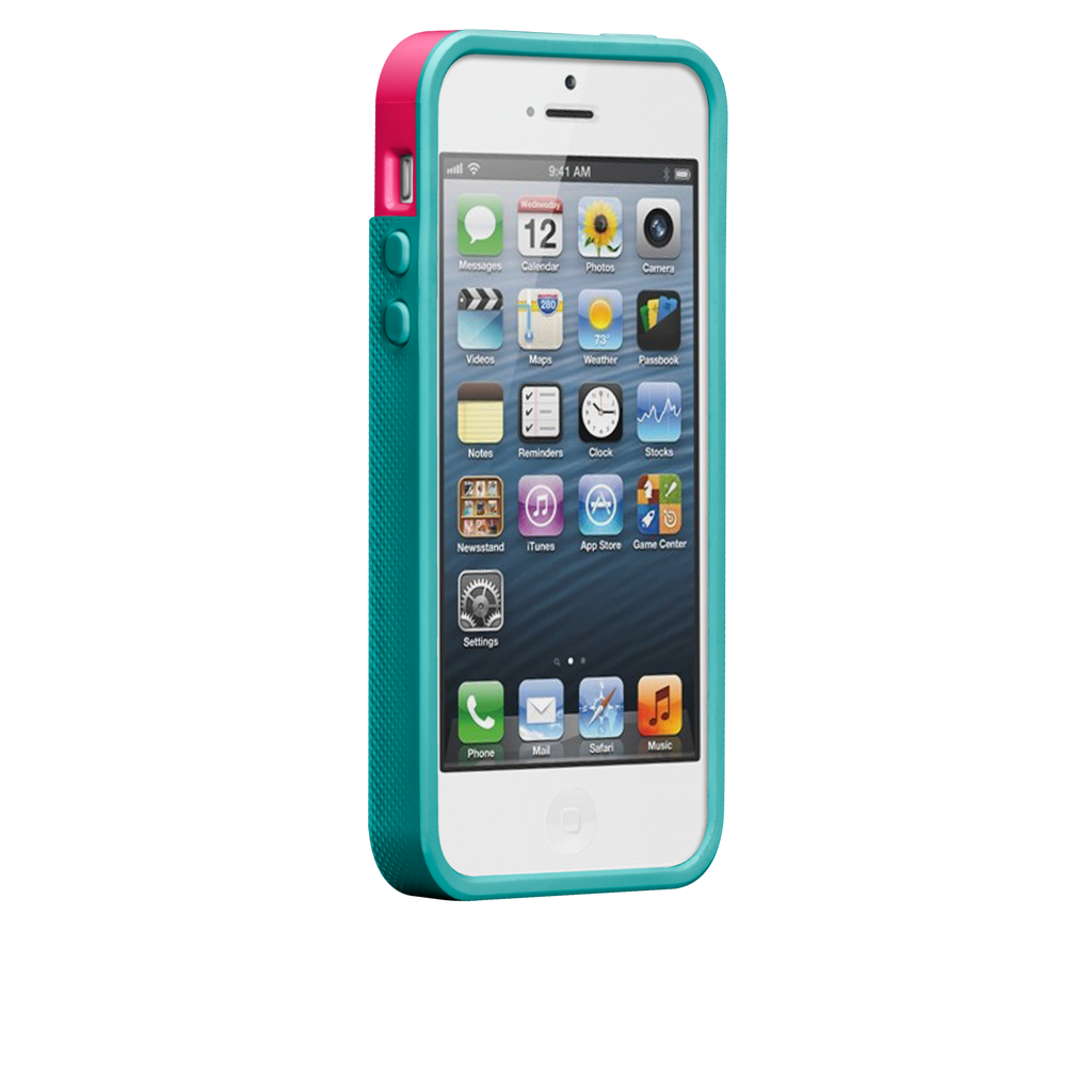 iPhone 5/5s Lipstick Pink & Pool Blue Pop! Case - image angle 2