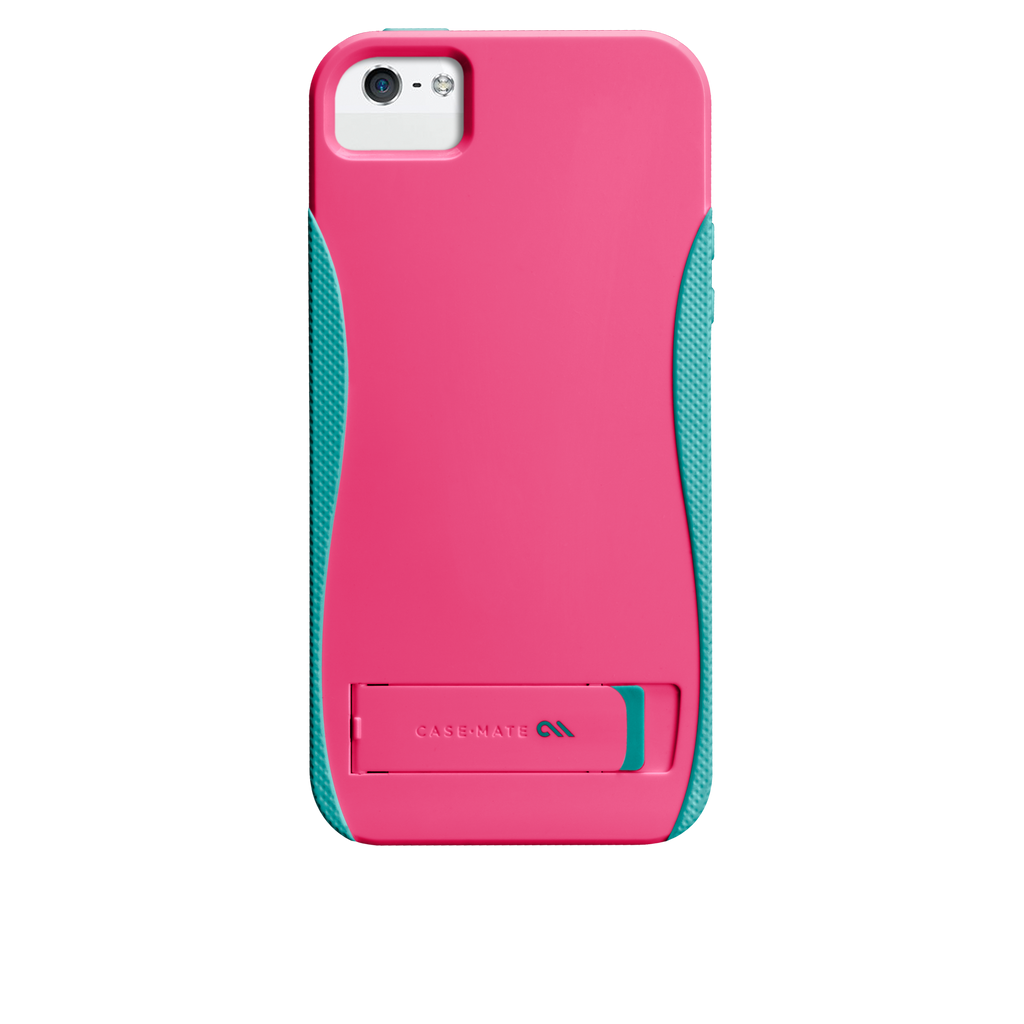 iPhone 5/5s Lipstick Pink & Pool Blue Pop! Case - image angle 7
