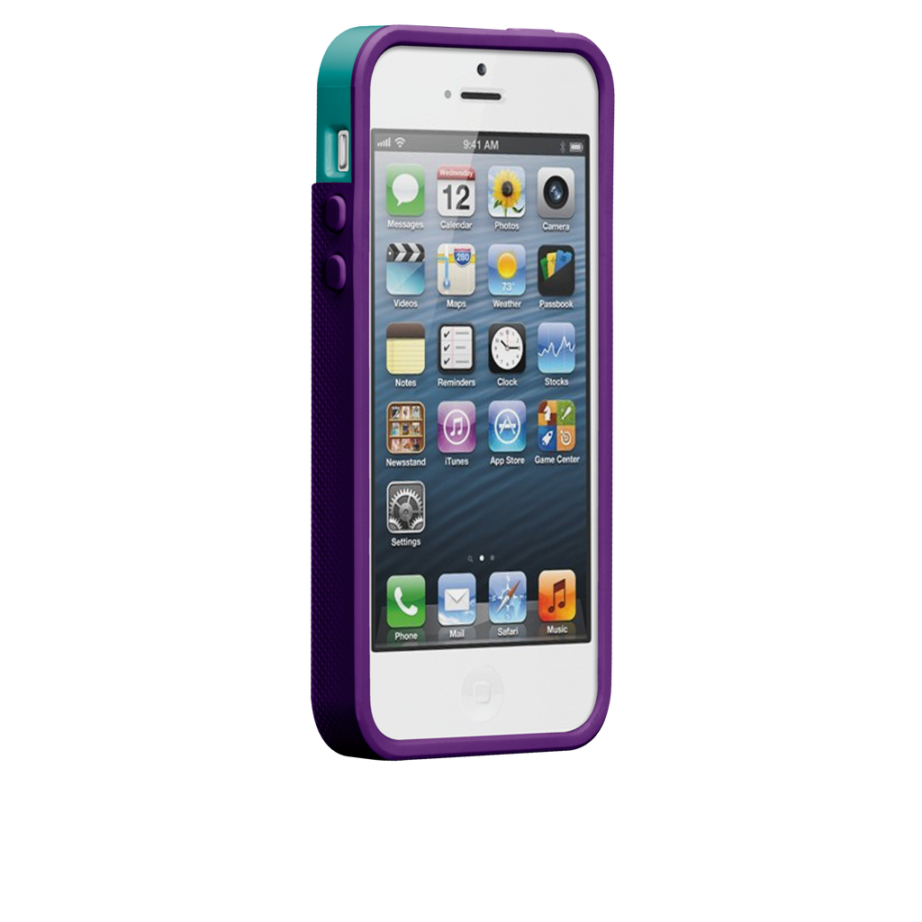 iPhone 5/5s Pool Blue & Violet Purple Pop! Case - image angle 2