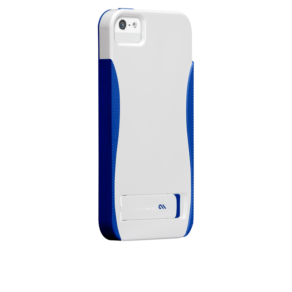 iPhone 5/5s White & Marine Blue Pop! Case - image angle 1