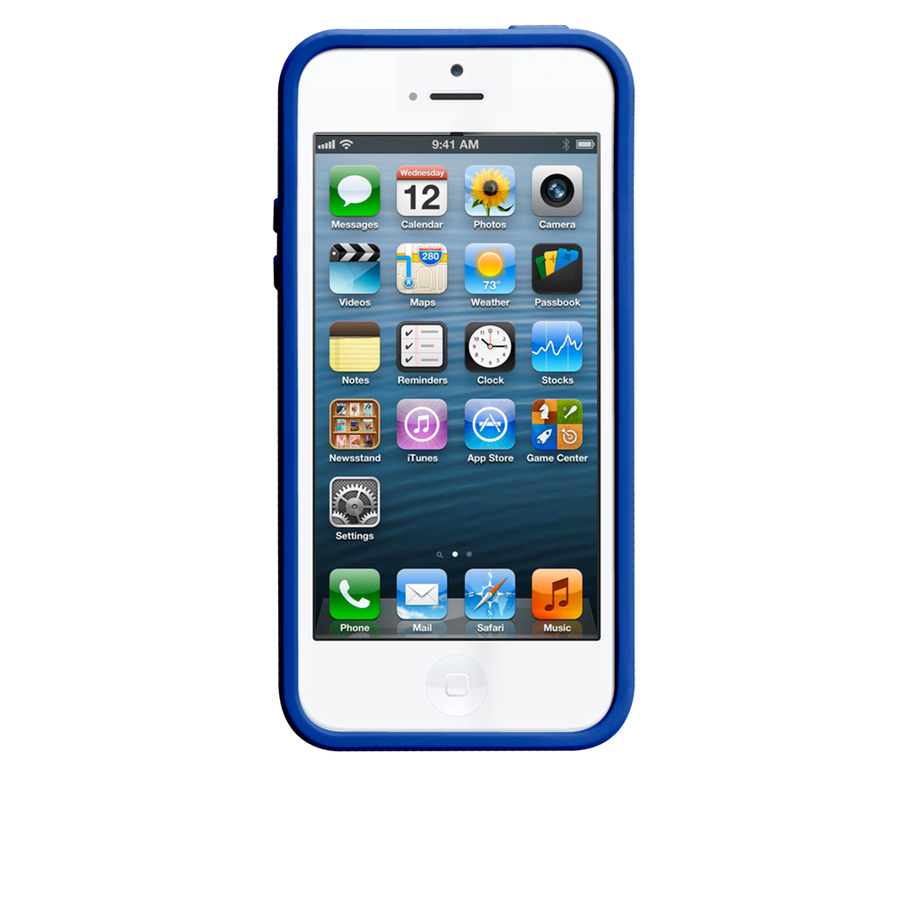 iPhone 5/5s White & Marine Blue Pop! Case - image angle 6