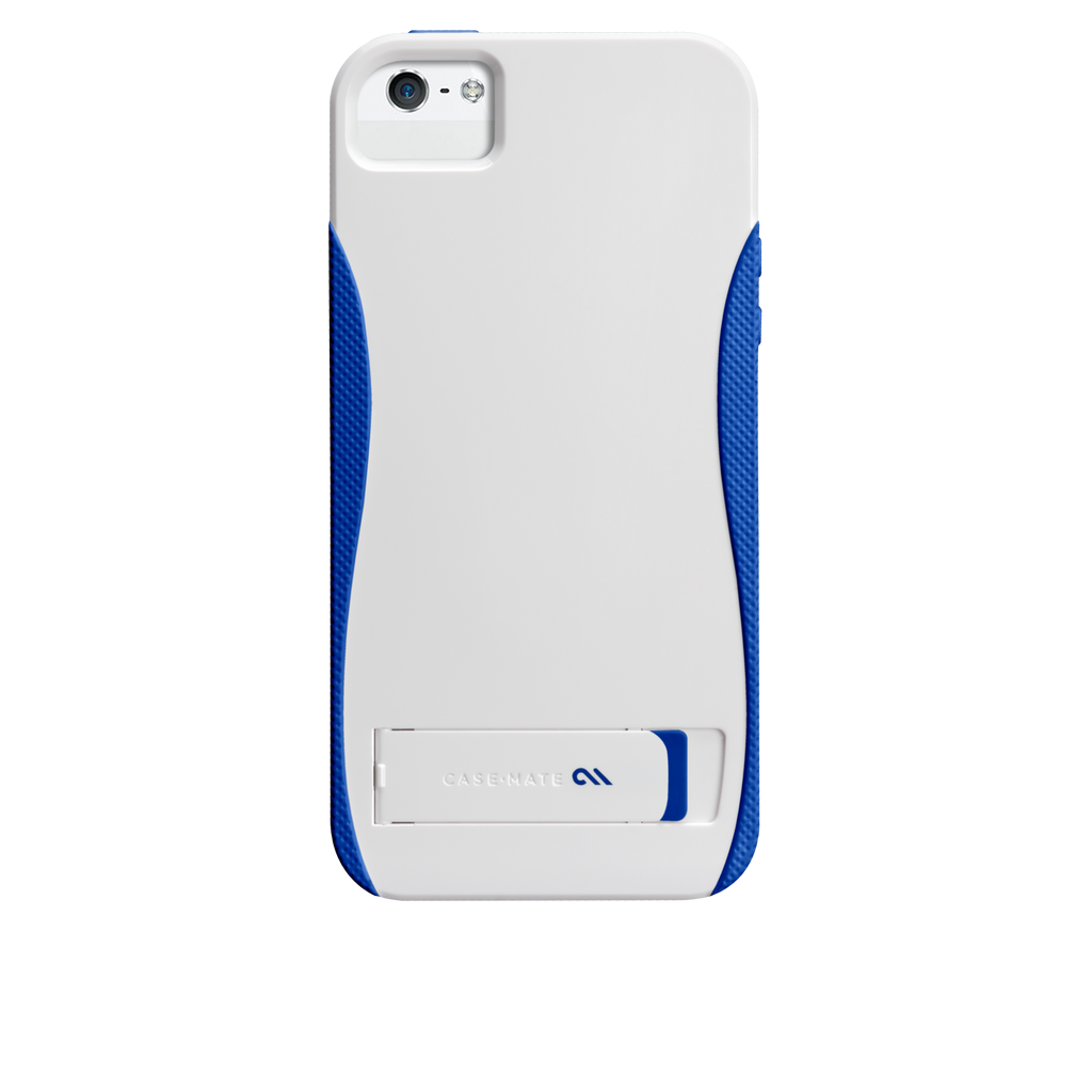 iPhone 5/5s White & Marine Blue Pop! Case - image angle 7