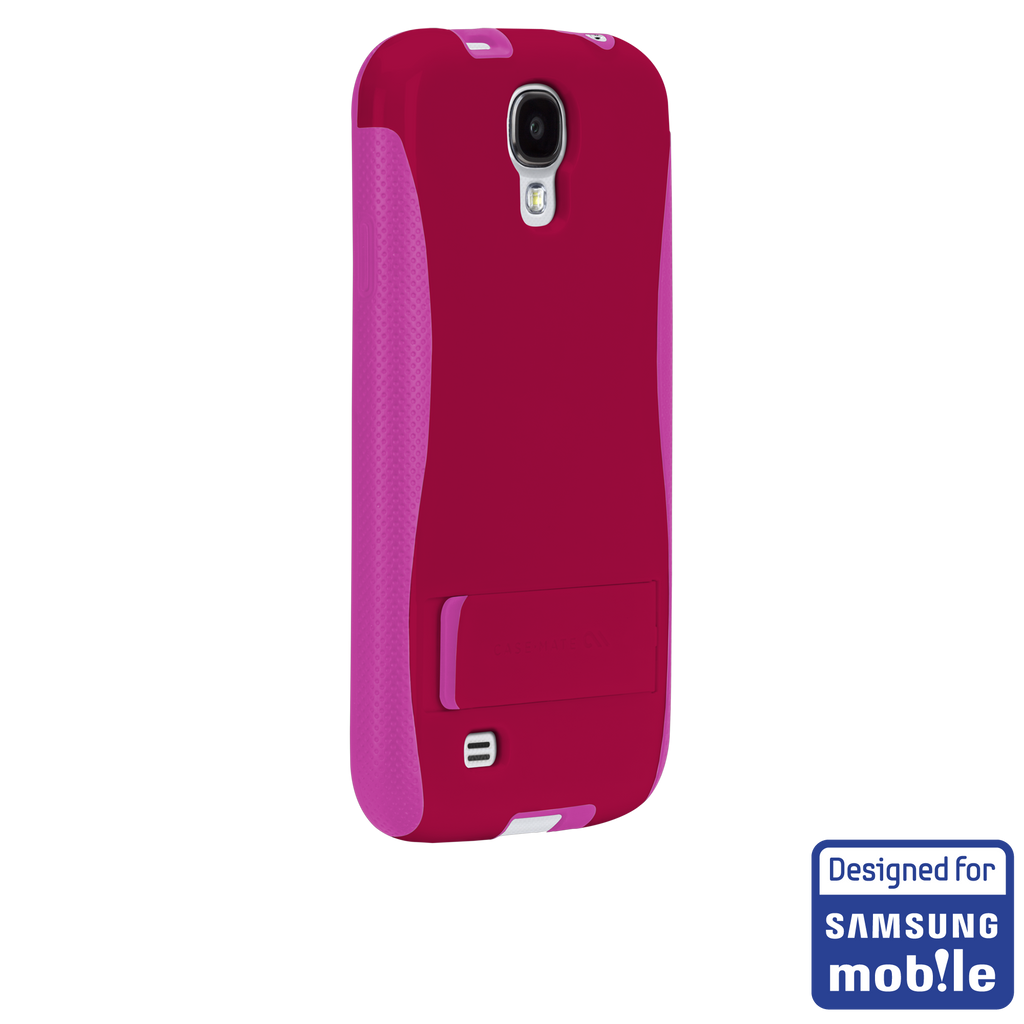 Samsung GALAXY S4 Ruby Red & Shocking Pink Pop! Case - image angle _1a