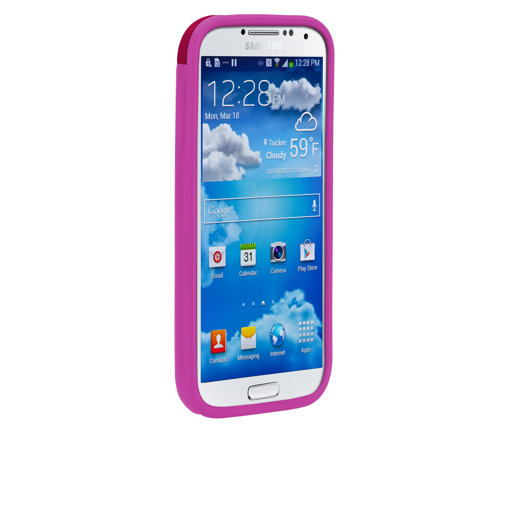 Samsung GALAXY S4 Ruby Red & Shocking Pink Pop! Case - image angle _2