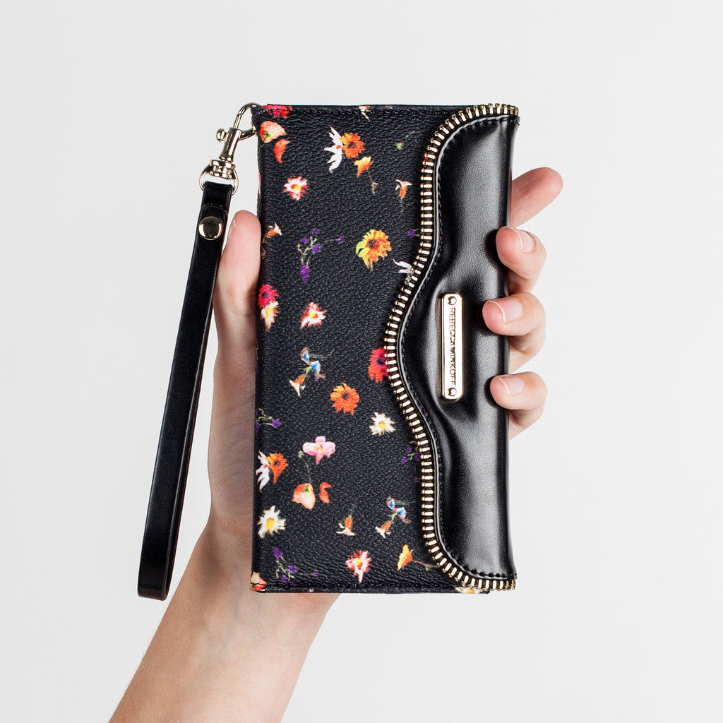 iPhone 6 Plus Botanical Floral Leather Folio Wristlet - lifestyle angle 3