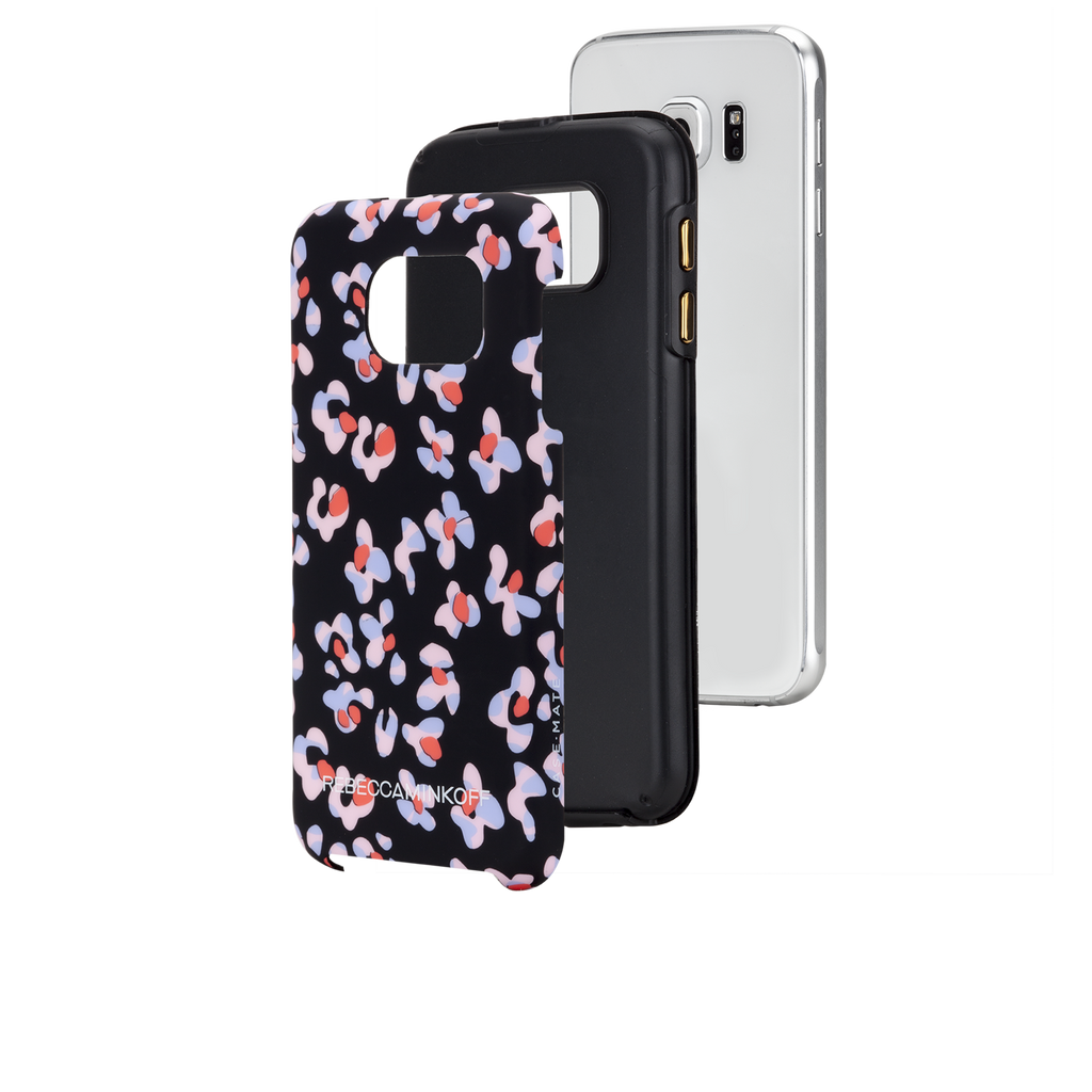 Samsung Galaxy S6 Black Leopard Floral Print CaseTough Print - image angle 8