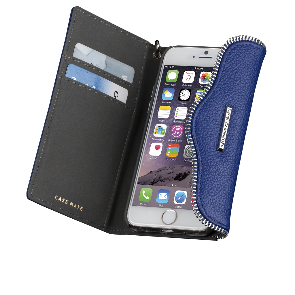 iPhone 6s Plus Cobalt Leather Folio Wristlet - image angle 10