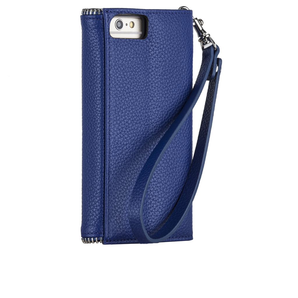 iPhone 6s Plus Cobalt Leather Folio Wristlet - image angle 1