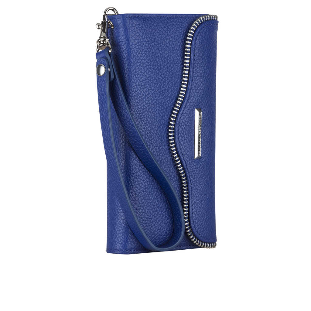 iPhone 6s Plus Cobalt Leather Folio Wristlet - image angle 2