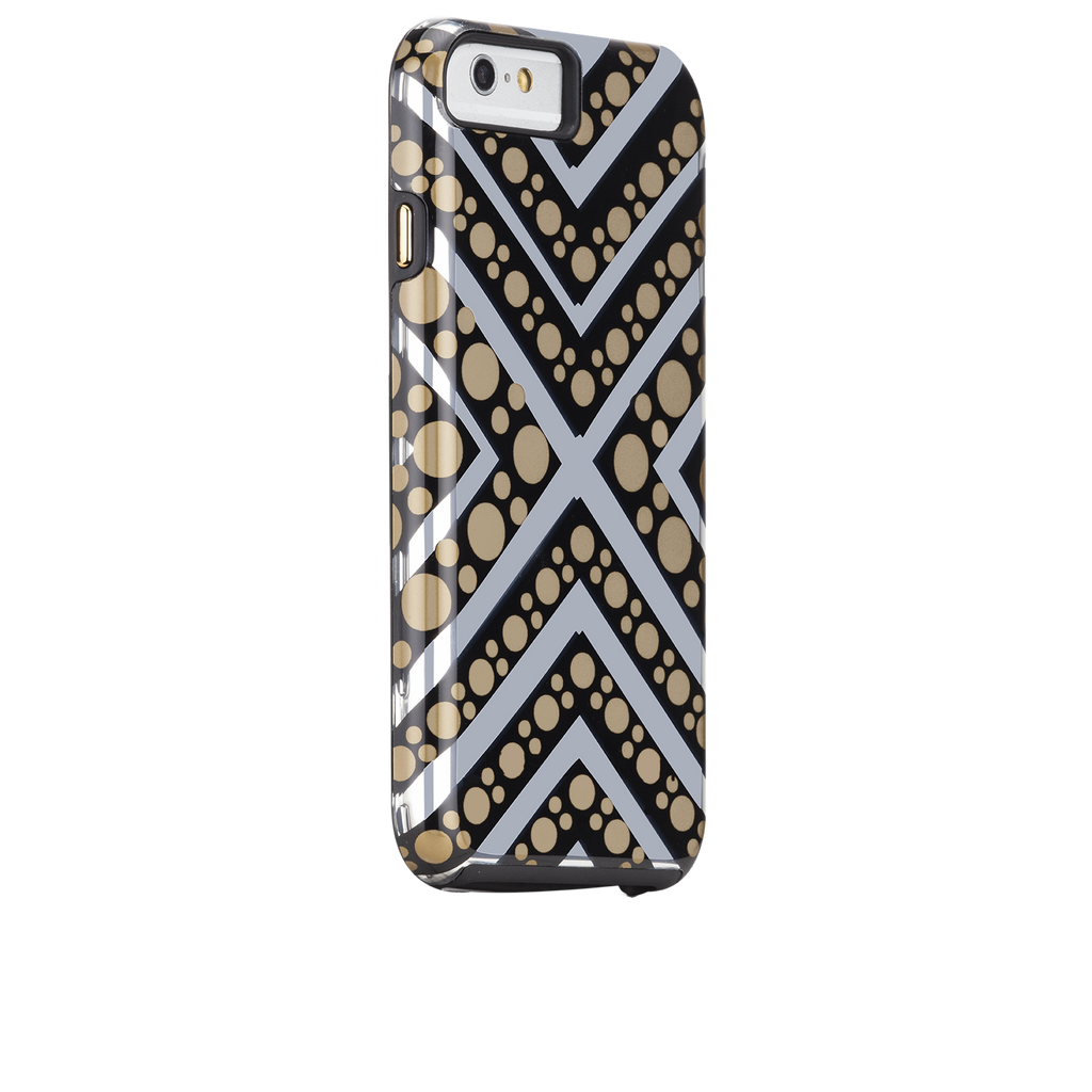 iPhone 6s Tough Metallic Chevron Dot Print - image angle 1