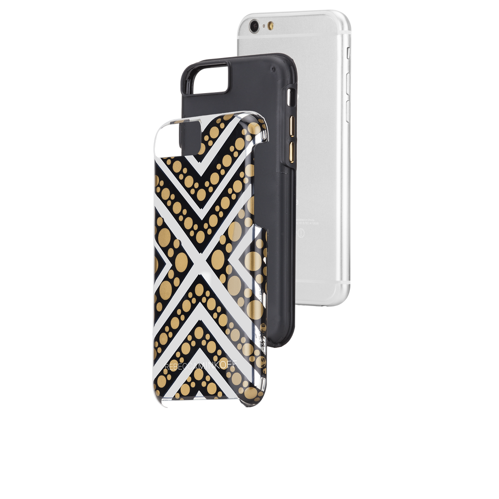 iPhone 6s Tough Metallic Chevron Dot Print - image angle 8