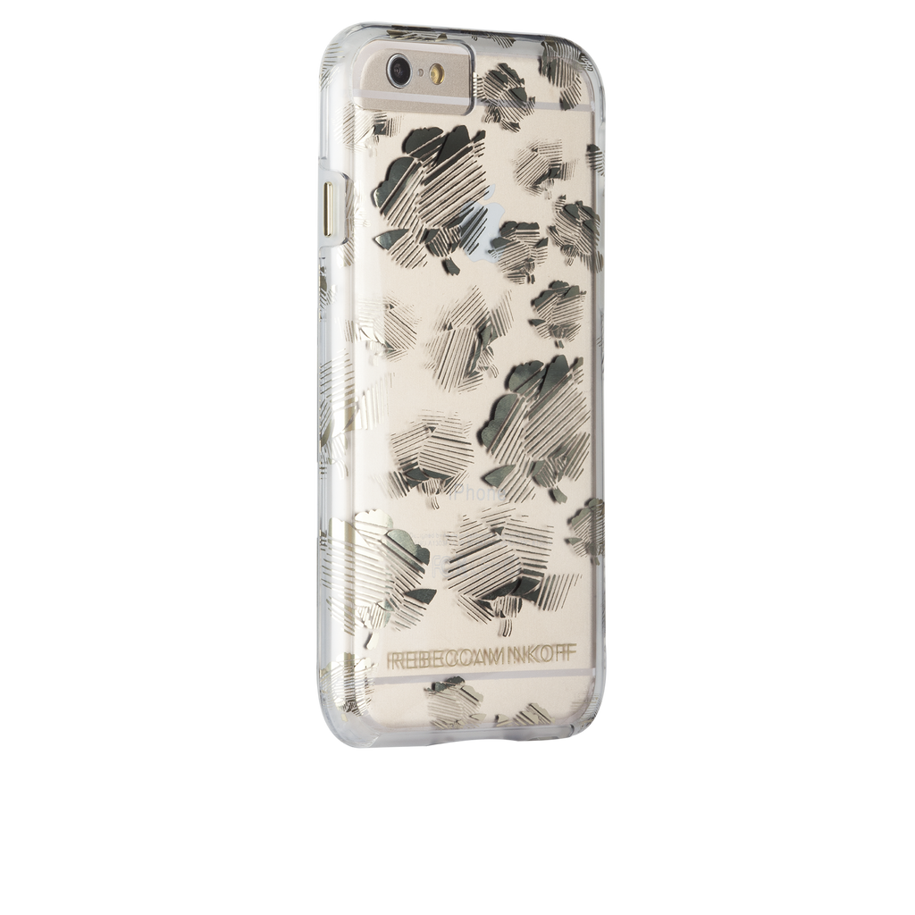 iPhone 6s Naked Tough Metallic Striped Floral - image angle 1