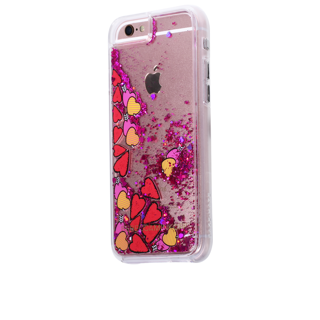 iPhone 6/6s Clear Rebecca Minkoff Waterfall Case - Hearts - image angle 3