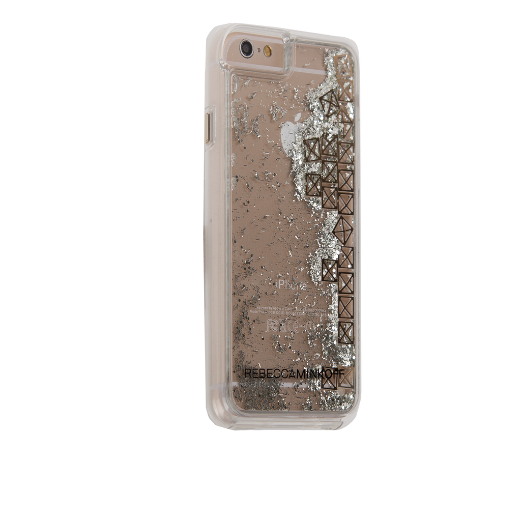 iPhone 6/6s Clear Rebecca Minkoff Waterfall Case - Studs - image angle 1