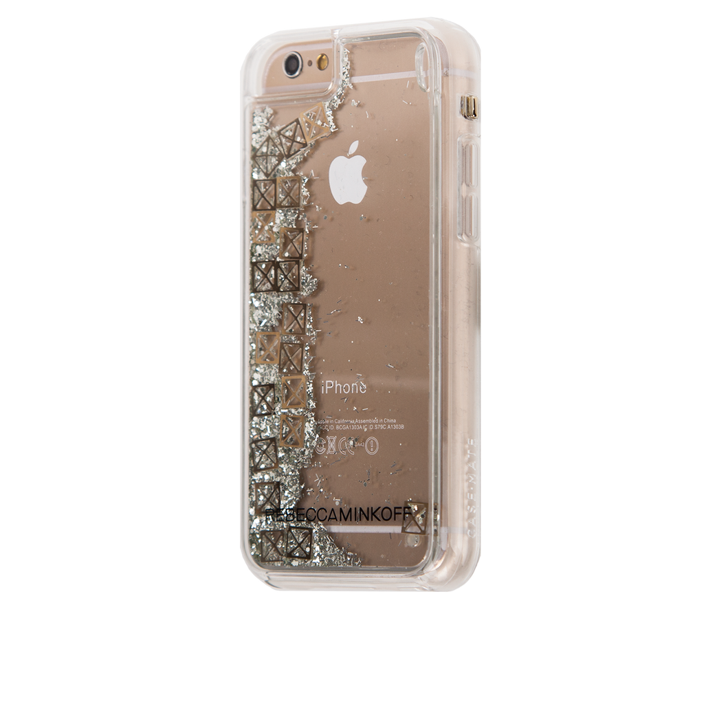 iPhone 6/6s Clear Rebecca Minkoff Waterfall Case - Studs - image angle 3