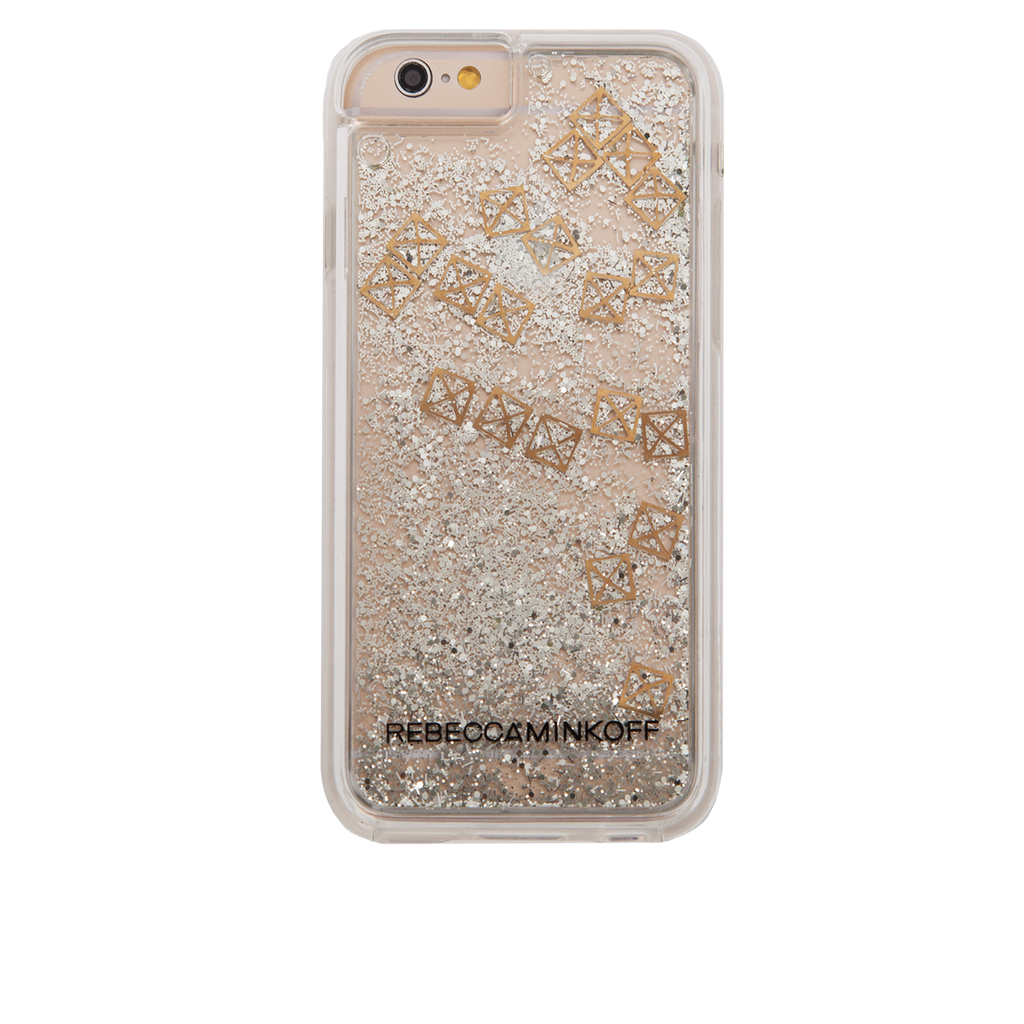 iPhone 6/6s Clear Rebecca Minkoff Waterfall Case - Studs - image angle 7