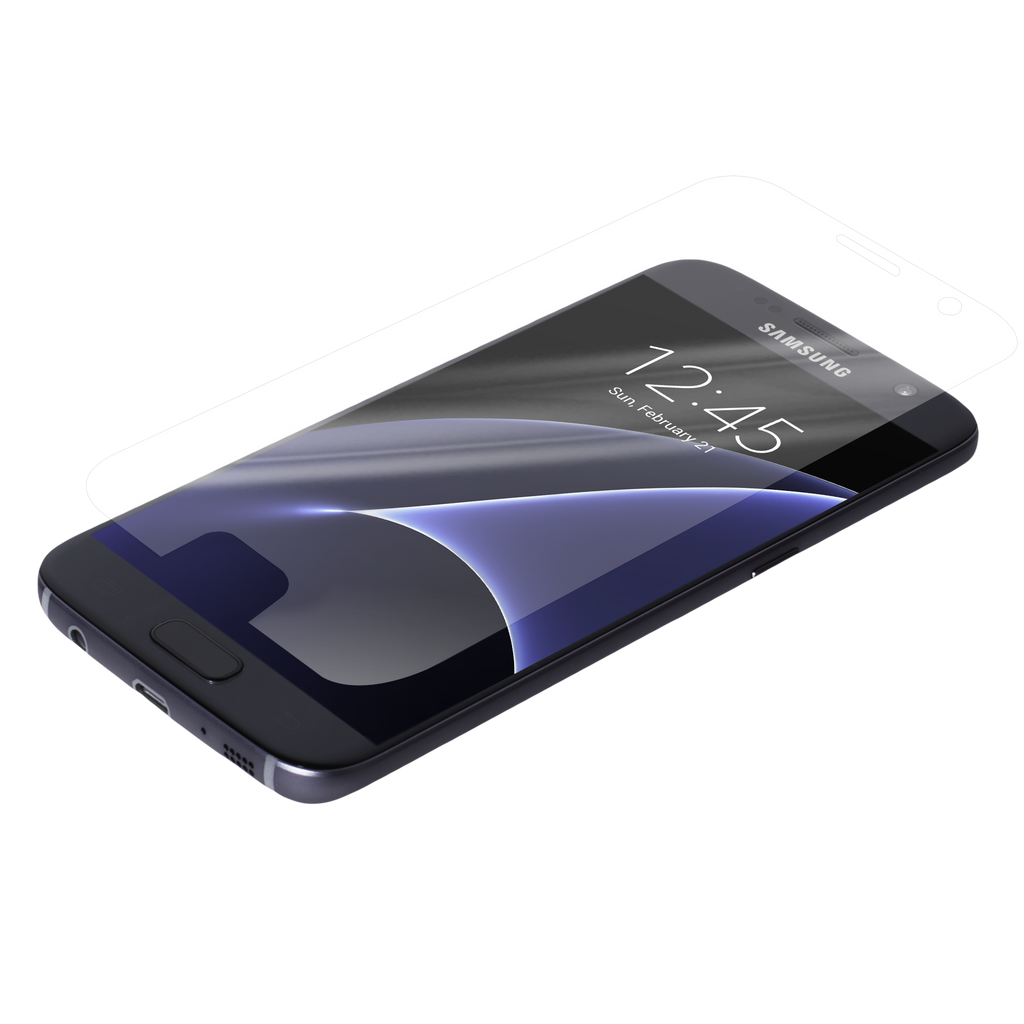 Samsung Galaxy S7 Clear Glass Screen Protector Case - image angle 8