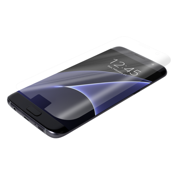 Samsung Galaxy S7 Edge Clear Glass Screen Protector Case - image angle 8