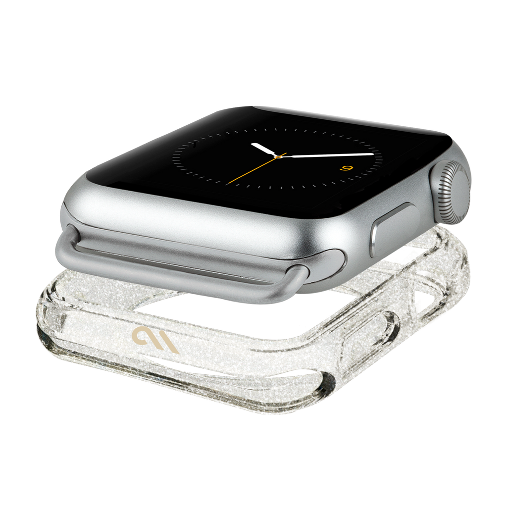 authentic case mate sheer glam band apple watch champagne