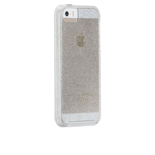 iPhone SE Champagne Sheer Glam Case - image angle 1