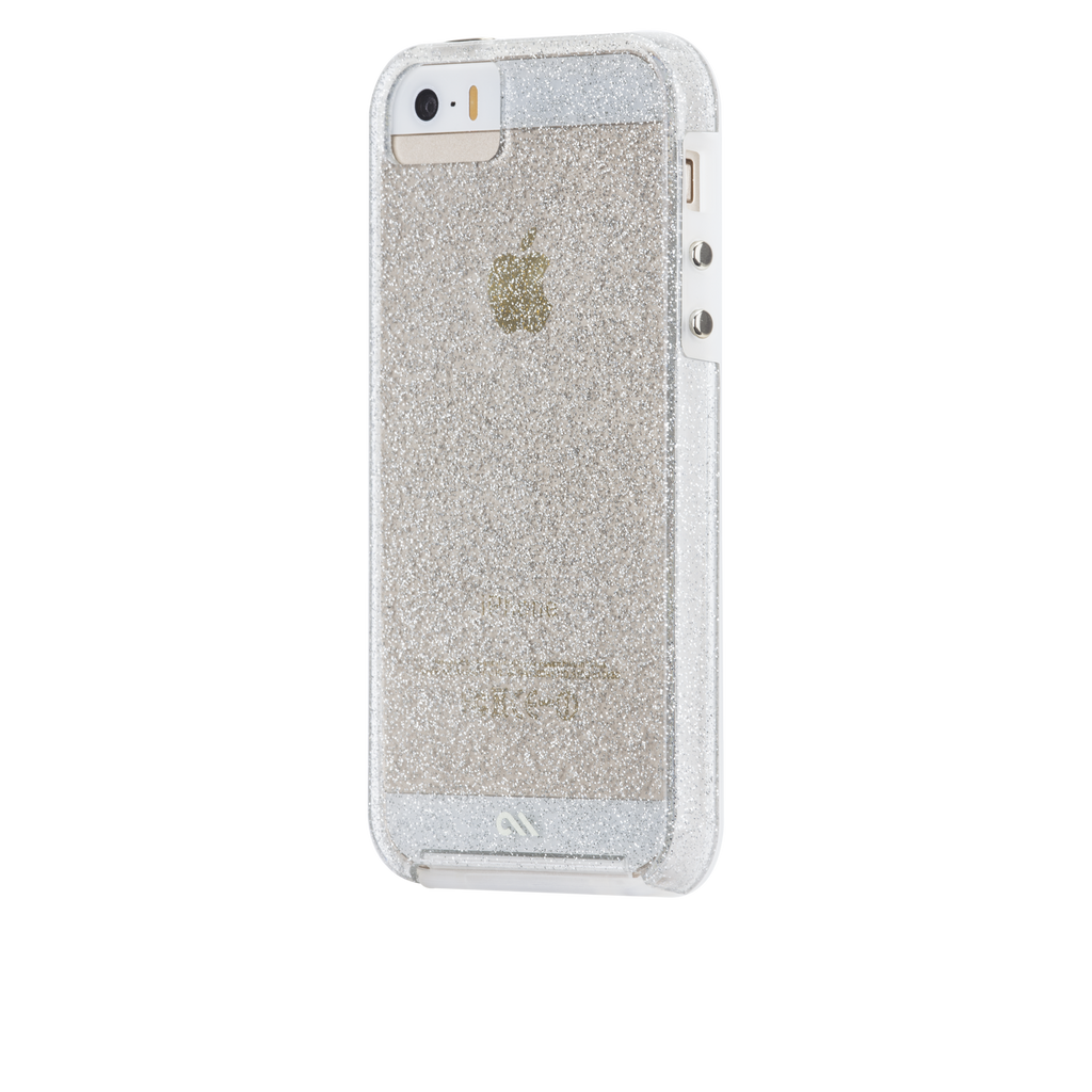 iPhone SE Champagne Sheer Glam Case - image angle 7