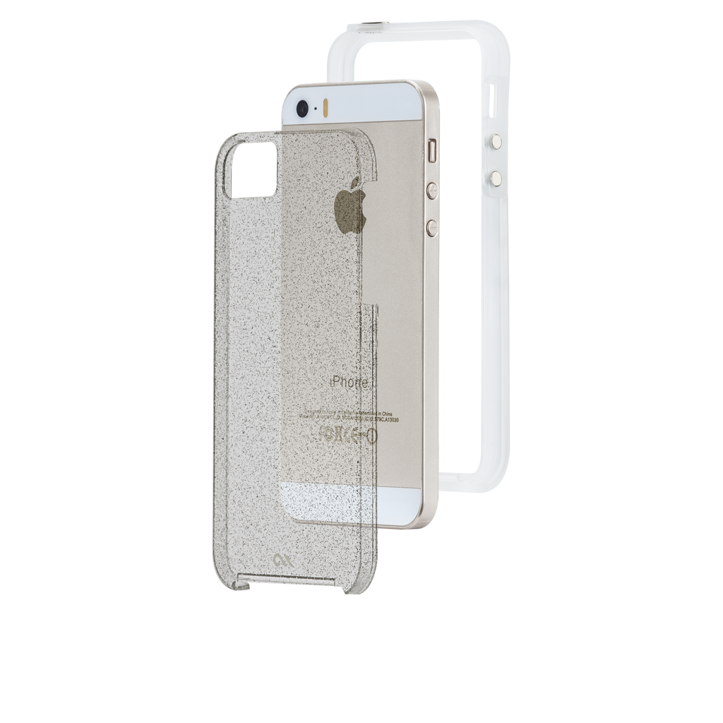 iPhone SE Champagne Sheer Glam Case - image angle 8