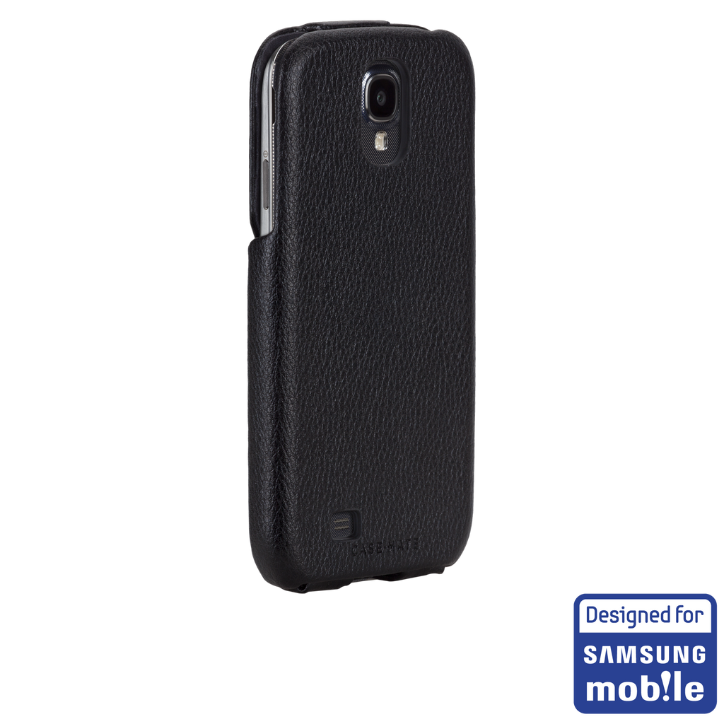 Samsung GALAXY S4 Black Signature Leather Flip Case - image angle 1a