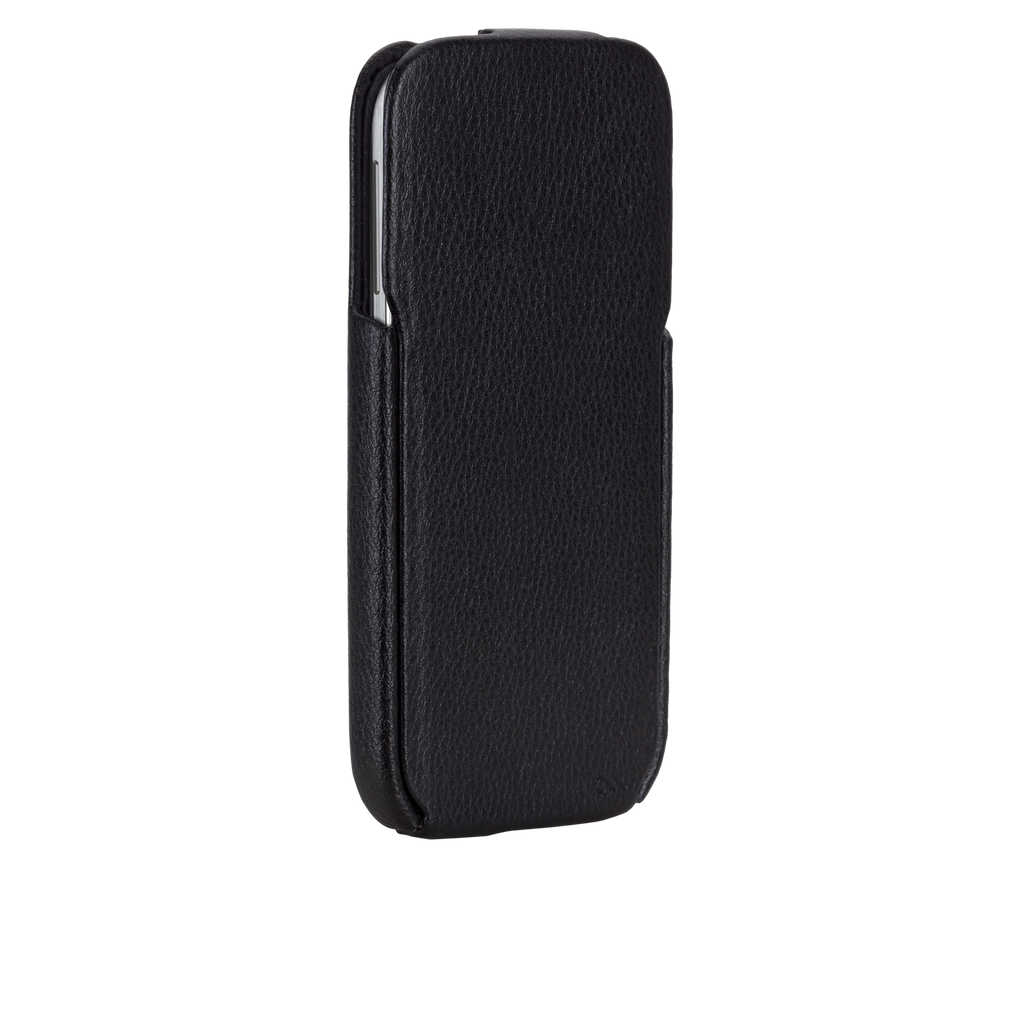 Samsung GALAXY S4 Black Signature Leather Flip Case - image angle 2