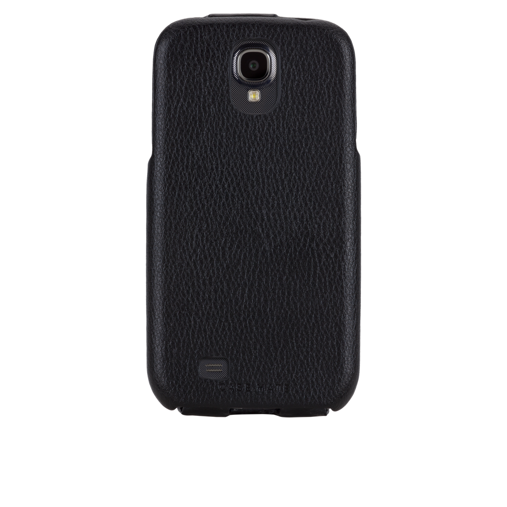 Samsung GALAXY S4 Black Signature Leather Flip Case - image angle 7