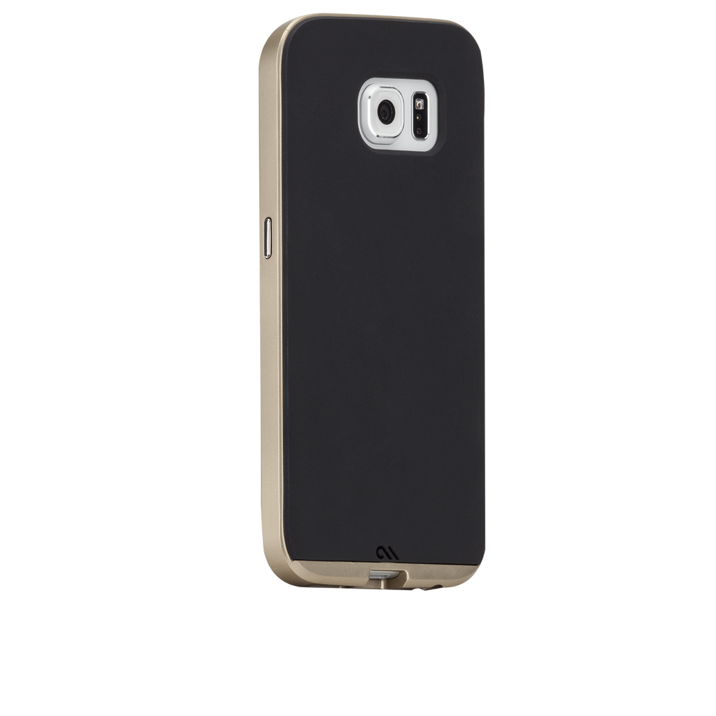 Samsung Galaxy S6 Black & Gold Slim Tough Case - image angle 1