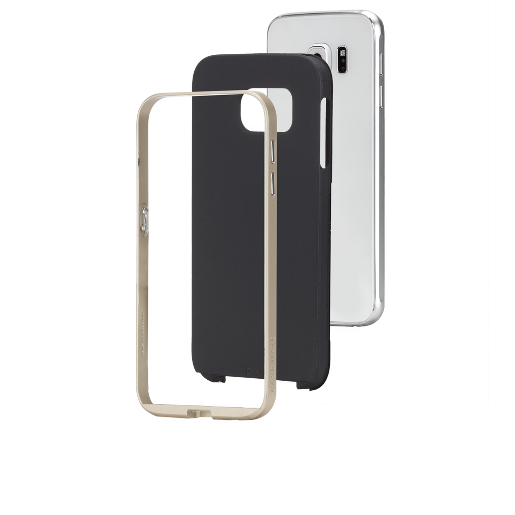 Samsung Galaxy S6 Black & Gold Slim Tough Case - image angle 8